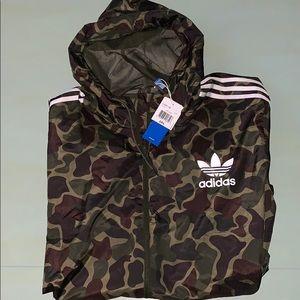 Adidas Camo Hooded Track Jacket XXL